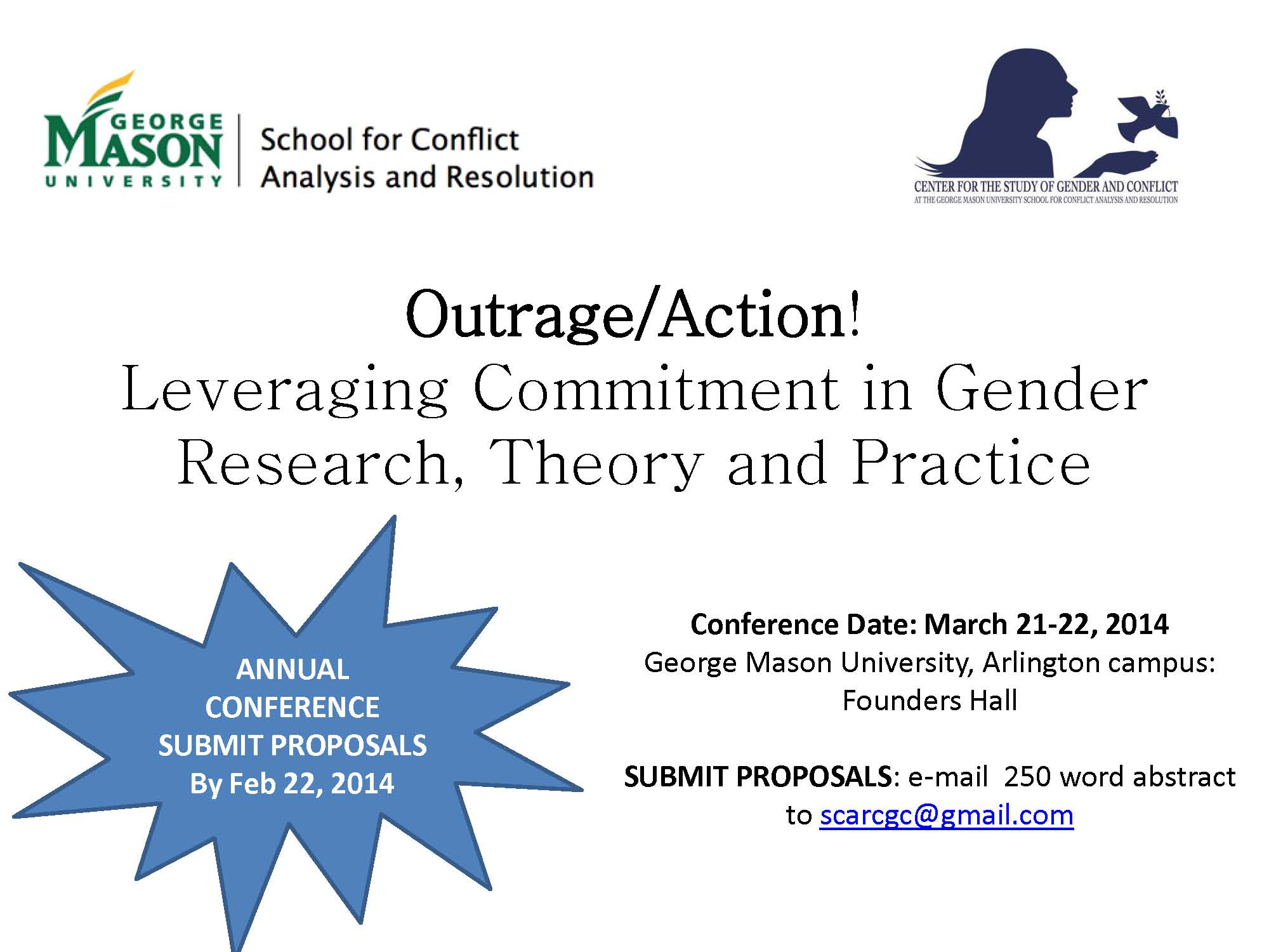 Poster for GMU Women Conference